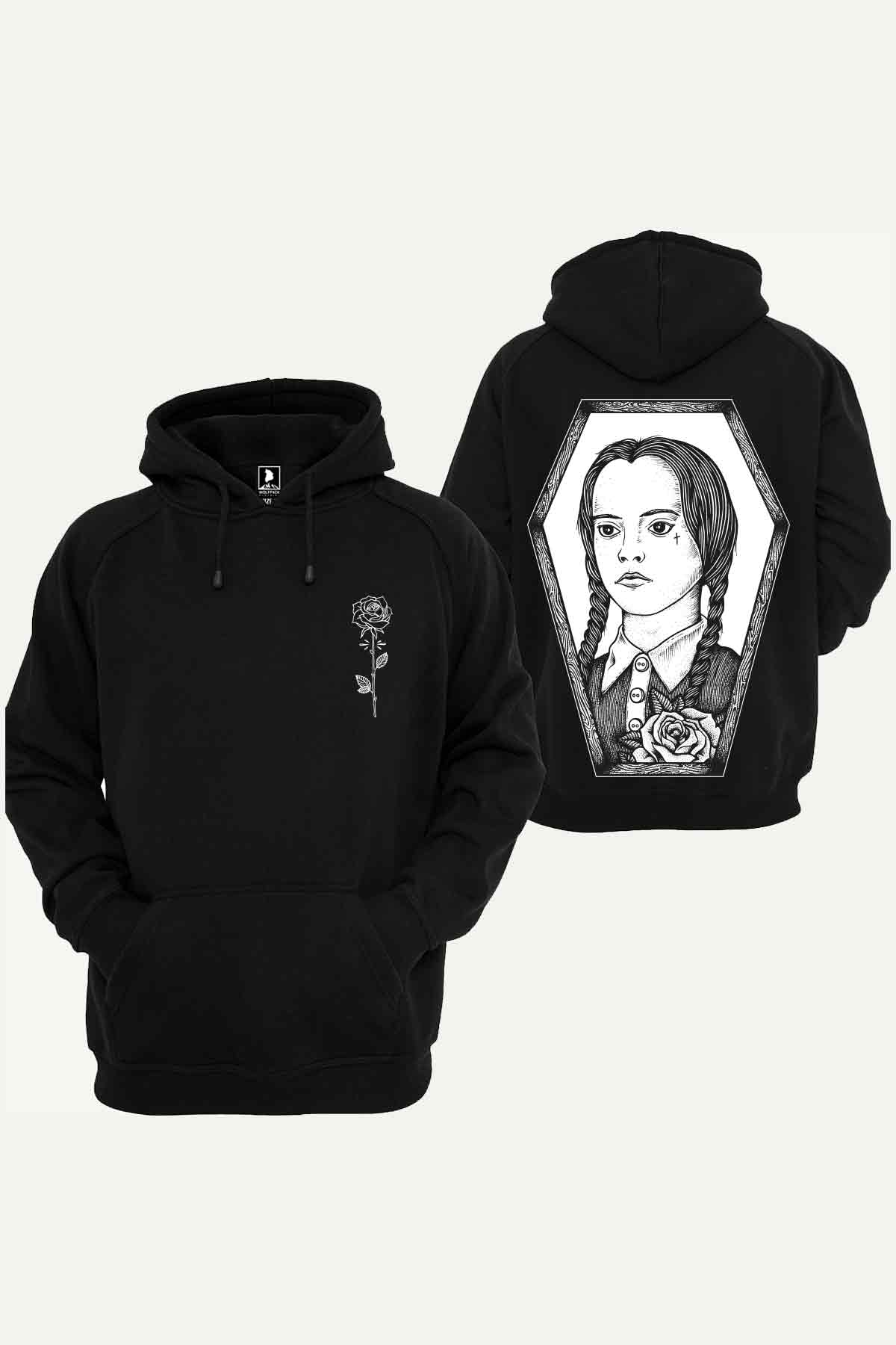 POISONED ROSE HOODIE BLACK UNISEX